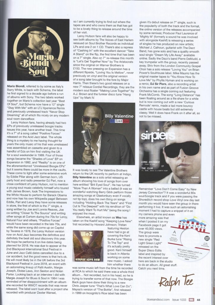 Soulhouse music blues and soul magazine Brian Power